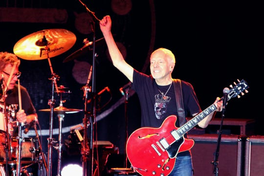 Peter Frampton performs in the Special Events Center at Fantasy Springs Resort Casino in Indio on Friday.