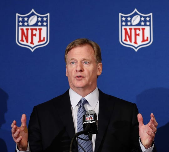 Roger Goodell and the NFL are going on with the NFL draft April 23-25.