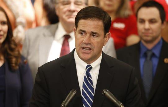 Arizona Gov. Doug Ducey, Republican incumbent.
