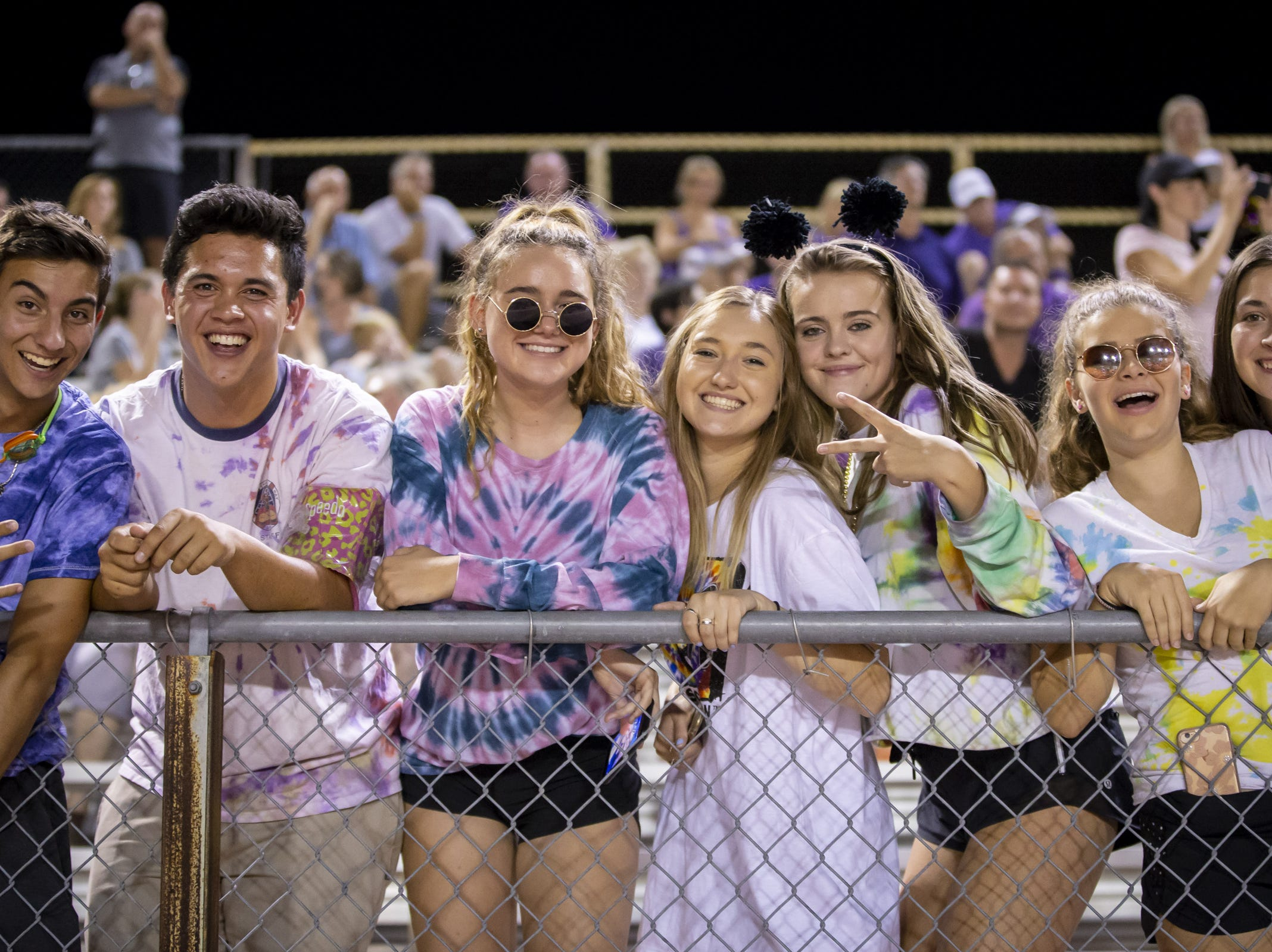 Notre Dame Prep fans during the game against the Gilbert Tigers at Gilbert High School on Friday, August 31, 2018 in Gilbert, Arizona.