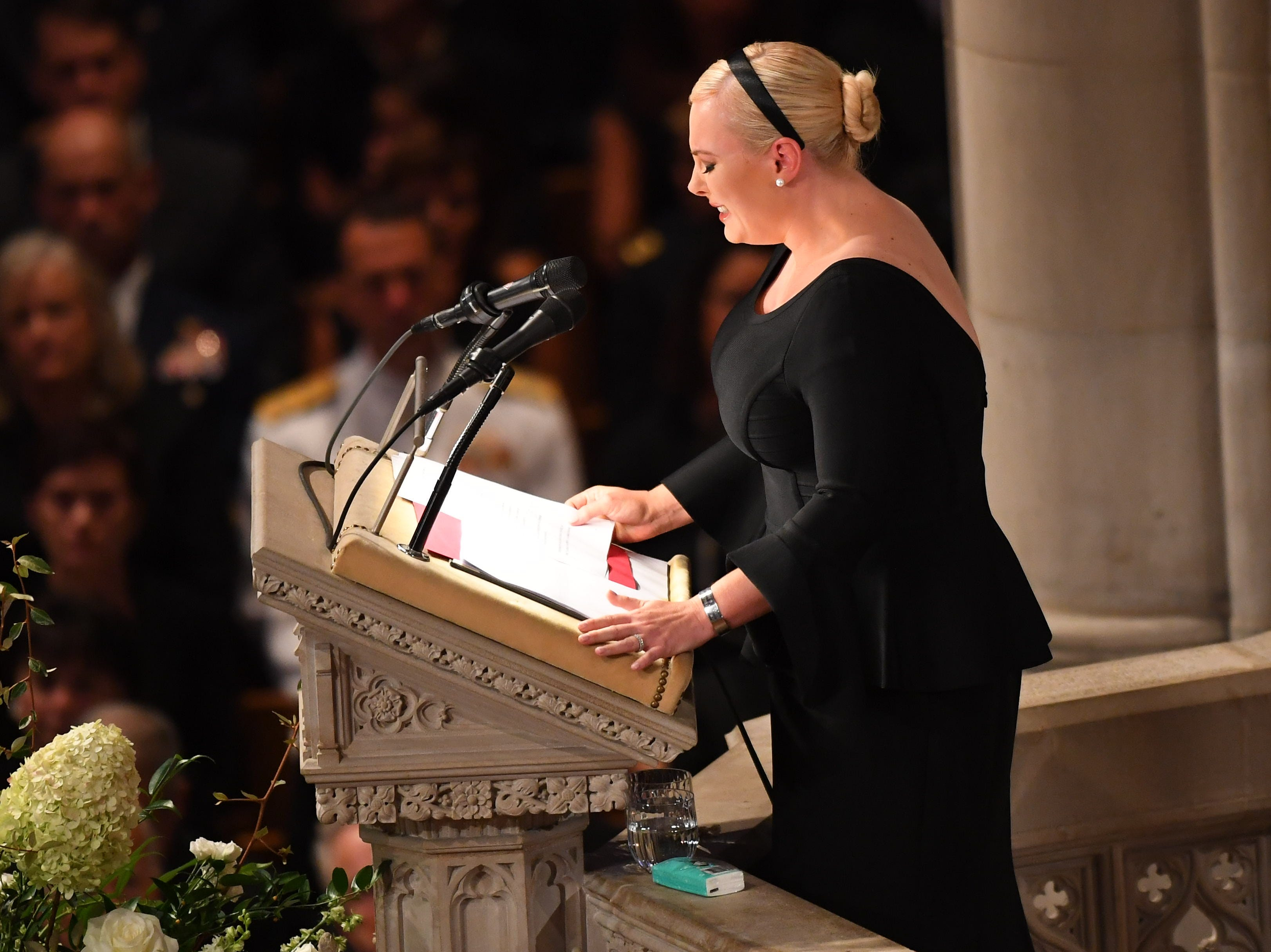 9/1/18 10:33:38 AM -- Washington, DC, U.S.A  -- Meghan McCain at the memorial service for John McCain at the National Cathedral in Washington on Sept. 1, 2018. Sen. McCain on Aug. 25. --    Photo by Jack Gruber, USA TODAY Staff