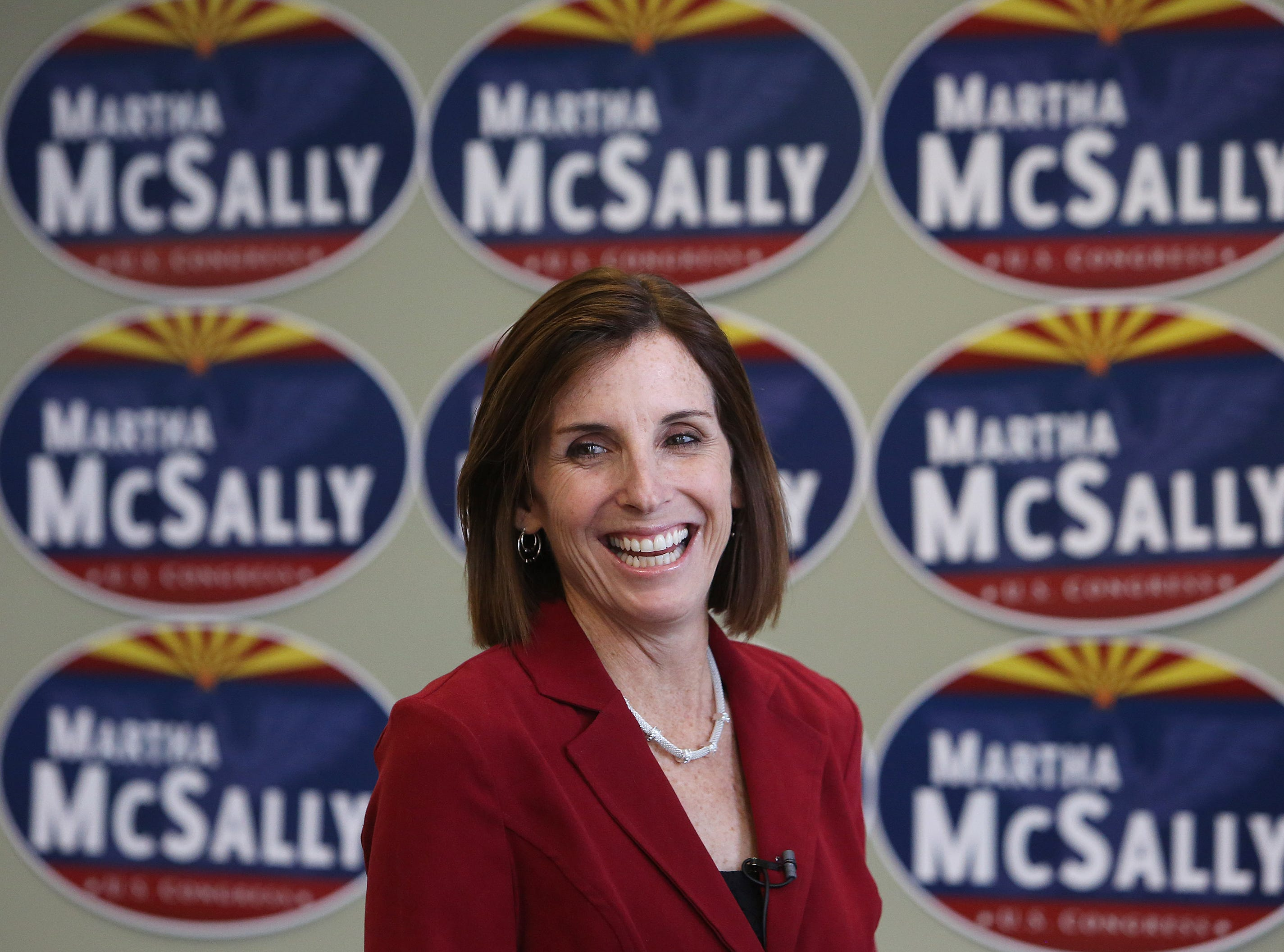 Martha McSally meets the media Dec. 17, 2014, in Tucson.