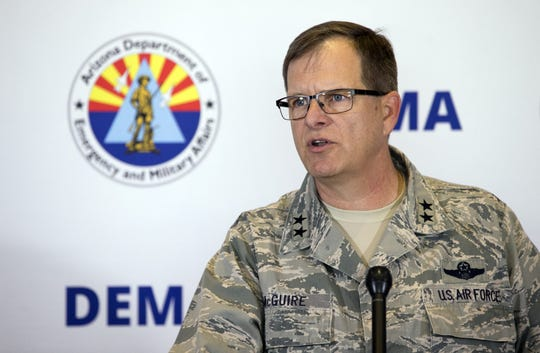 Maj. Gen. Michael McGuire, another possible pick to be named to the late John McCain's Senate seat, is the state's military commander as the Adjutant General and the Director of the Arizona Department of Emergency and Military Affairs.