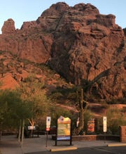 The entrance to Echo Canyon Trail at Camelback Mountain.