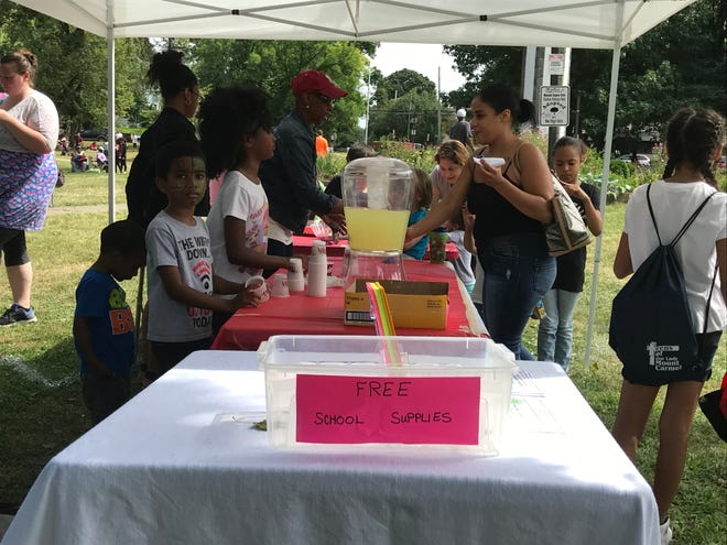 The 18th annual Church Picnic Dedicated to God in Mansion Square Park on Saturday featured school supplies giveaways.