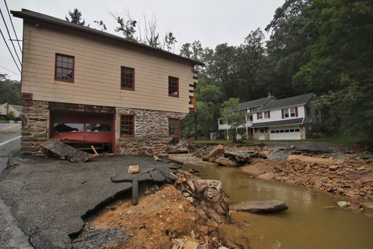 Damaged Mill in the 400 block of Kreutz Creek Road in Hellam Township. Wrightsville Fire photo
