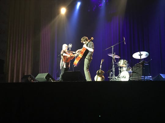 San Francisco-based Dirty Cello stirred up the audience at the Carr Fire Benefit Show at the Cascade Theatre on Aug. 31, 2018.