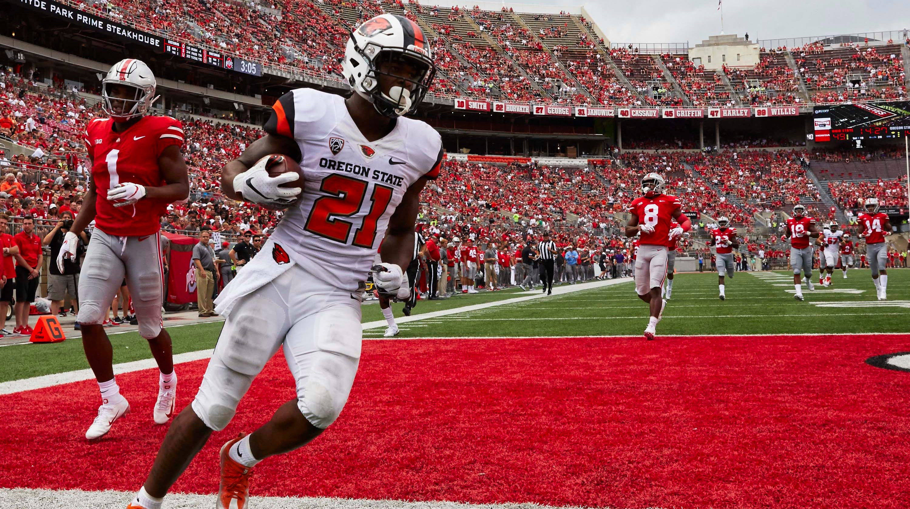 College Football Oregon State Beavers Loses To Ohio State Buckeyes