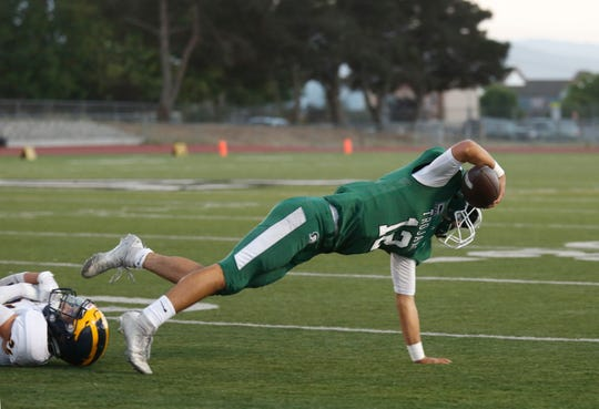 Alisal quarterback Julian Renteria scored three touchdowns in another solid win for the Trojans on the road, this one 35-28 over Scotts Valley.