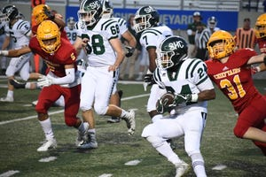 Sacred Heart Cathedral (in white) had their playoff game rescheduled multiple times and will play its CCS Open Division III game against Live Oak at Alisal at 4 p.m. The Irish are one of 18 schools coming to Salinas Saturday for rescheduled playoff games.