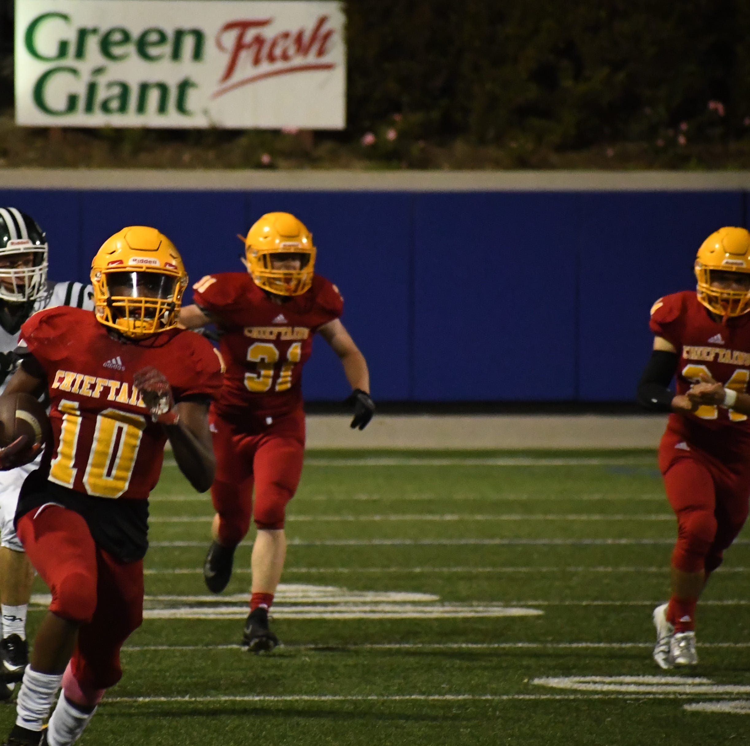 Palma junior Jon Jon Berring's second half kick return swung the momentum back to the Chieftains after falling behind 6-3.