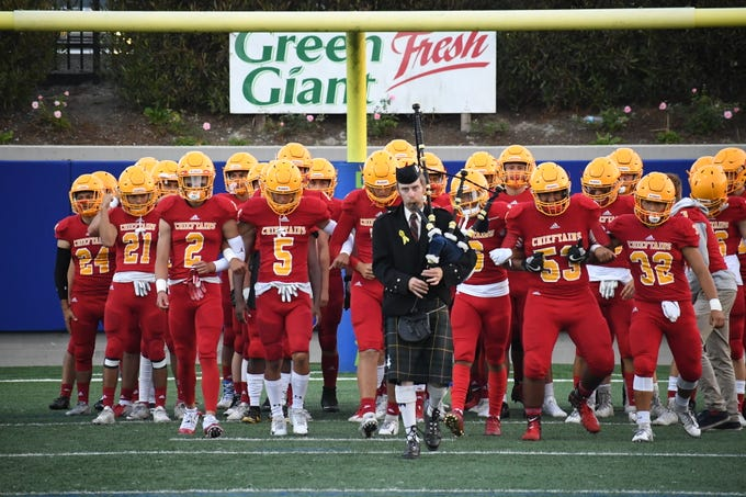 Palma takes to the field for their game against Sacred Heart Cathedral Friday night at Rabobank Stadium.