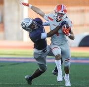 Senior slot receiver Jackson Timme (right) was San Angelo Central High School's leading receiver this past season.