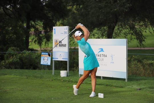 Linnea Strom claimed her first professional title by winning the GreatLife Challenge at Willow Run Golf Course.