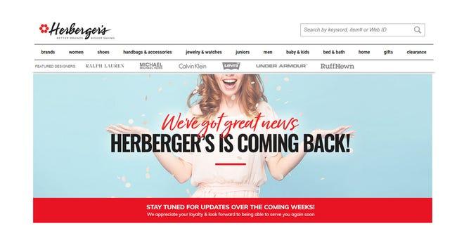 A screenshot of the Herbergers.com website taken the evening of Friday, August 31.