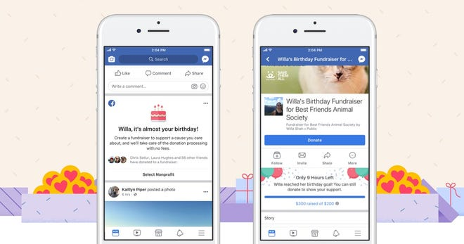 In the first year of Facebook's birthday fundraisers, the company reported in August that more than $300 million was raised.