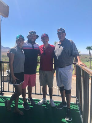 The team of Kristie Stone, Taylor Stone, Ryan Bogen and Jim Stone won the 2018 Patriot Day Golf Scramble in Littlefield, Arizona, on Sept. 1.