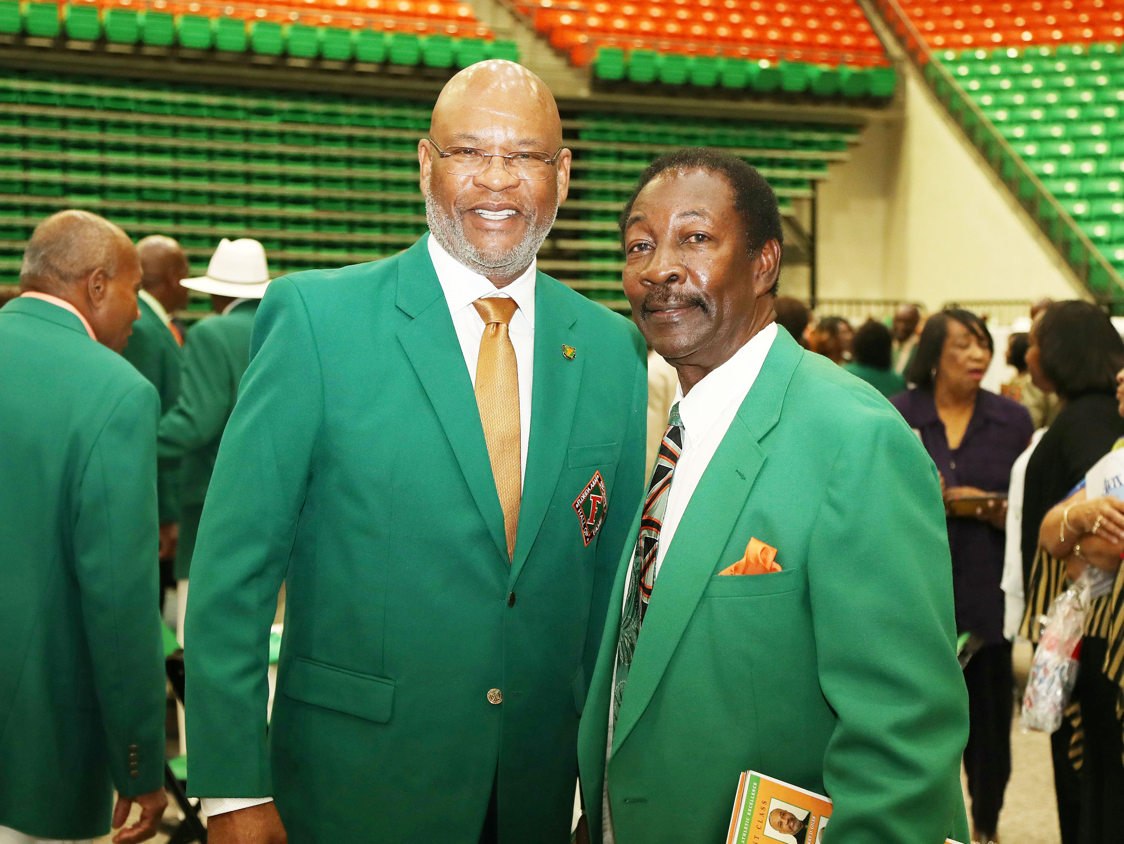 FAMU legends Dr. John Eason (athletics director) and Ken Riley. In additon to being a member of the FAMU Sports Hall of Fame, Riley is enshrined in the Black College Football Hall of Fame.
