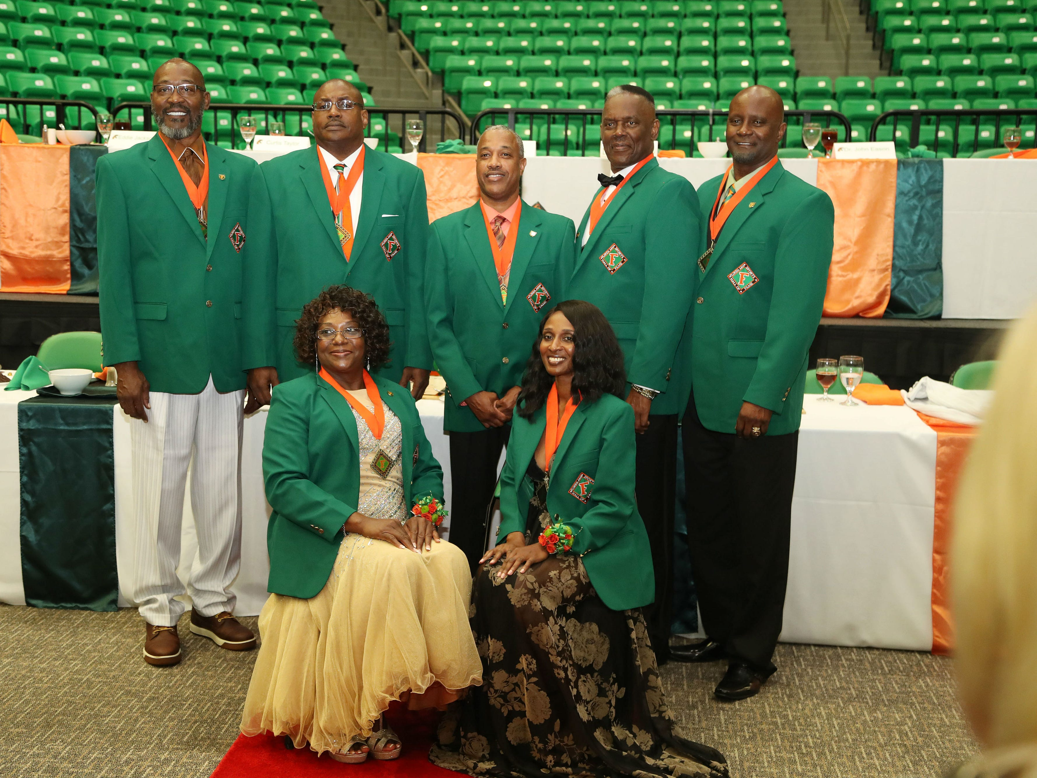 FAMU Sports Hall of Fame Class of 2018. From left to right: Bryan Brewer,