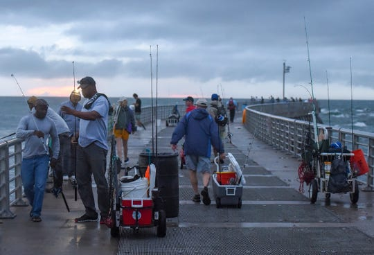 Avid anglers woke before dawn Saturday, Sep. 1, 2018, for the opening day of snook season at Sebastian Inlet State Park.