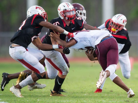 Fort Pierce Westwood plays against Port St. Lucie during the high school football game Friday, Aug. 31, 2018, at Port St. Lucie High School.