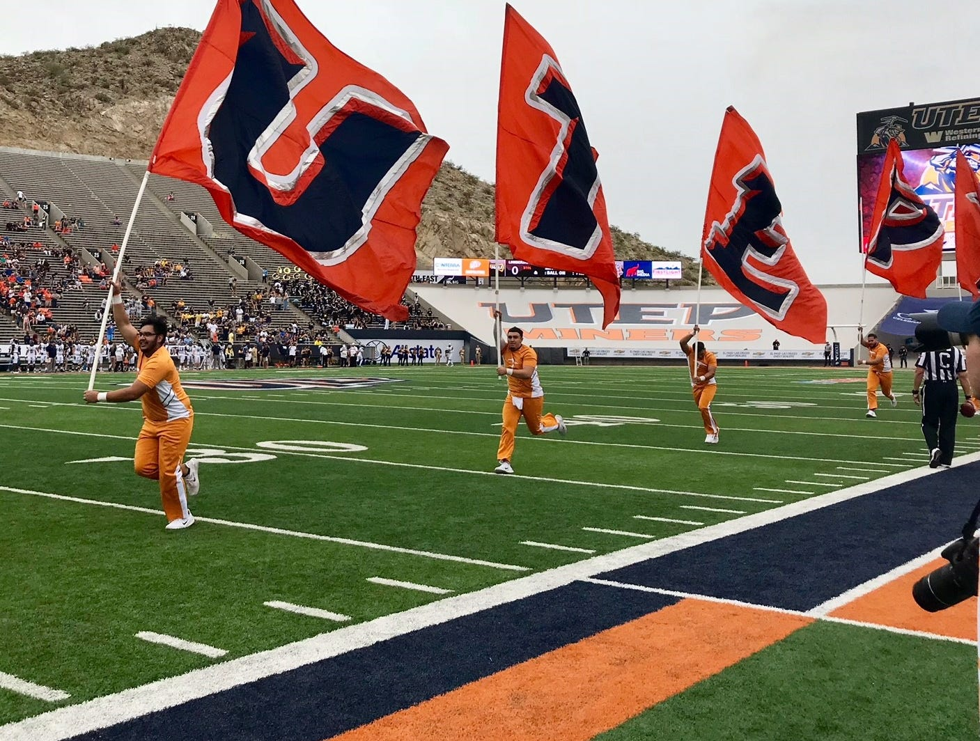 UTEP football gets underway at the Sun Bowl as the Miners take on the Northern Arizona University Lumberjacks.