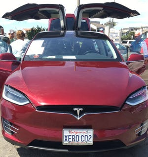 This Tesla Model X Autopilot owned by Lisa Merkord is one of several electric and plug-in hybrid cars expected to be at the Sierra Club's National Drive Electric Week display on Sept. 9 at Channel Islands Harbor.