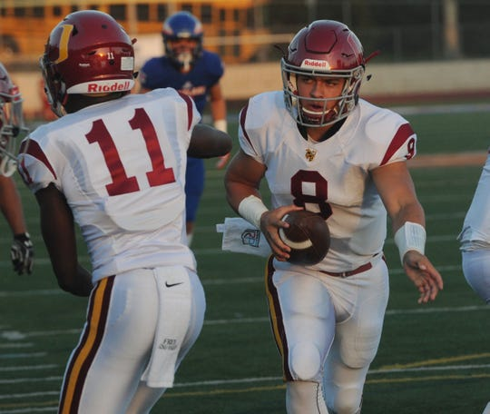 Quarterback Vincent Walea (8), running back Xavier Harris and Oxnard could meet rival Pacifica in the Division 6 final.