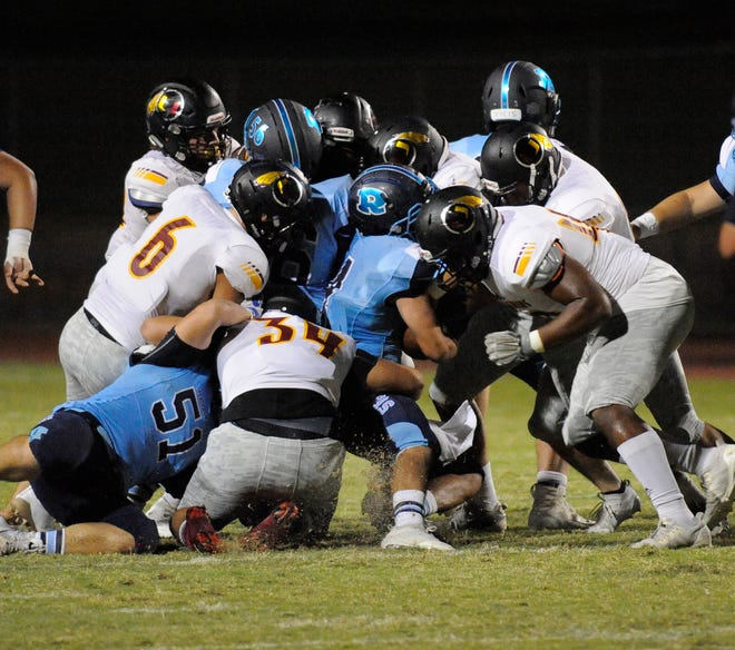 Tulare Union defeated Redwood 67-20 in a non-league game at Mineral King Bowl on August 31, 2018.