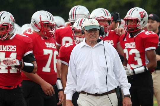 Somers football coach Tony DeMatteo is scheduled to open the 2020 season against his son, Dominick DeMatteo, the Mahopac football coach, and his grandson, Mahopac quarterback Anthony DeMatteo.