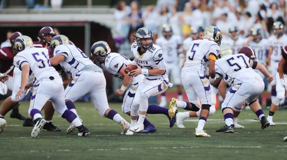 Clarkstown North defeats Harison 39-7 at Harrison High School on Friday, August 31, 2018.