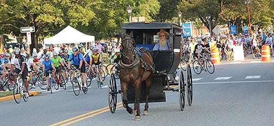 Bicyclists will take to the roads surrounding Dover and throughout Kent County on Saturday as part of the 32nd annual Amish Country Bike Tour. More than 1,500 cyclists participated in the 2017 event.