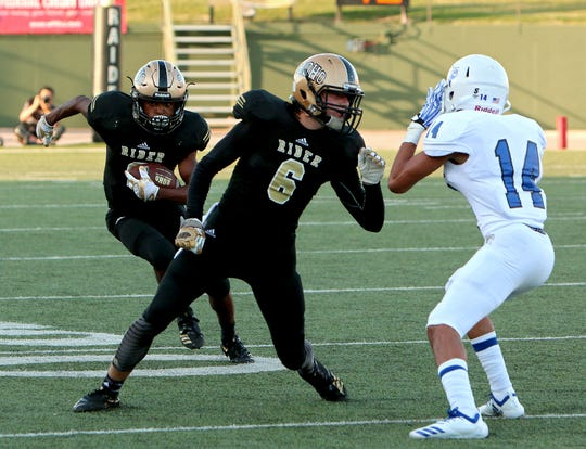 Rider junior receivers Nick Darcus and Ranse Radtke earned valuable varsity experience last season.