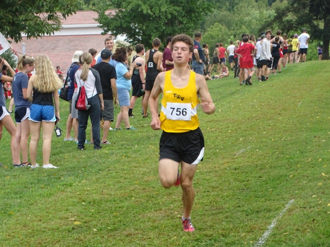 Tri-Valley junior Ryan Meadows posted a time of 16:59 to place second in the Granville Invite, as the Scotties were fifth in the team race.