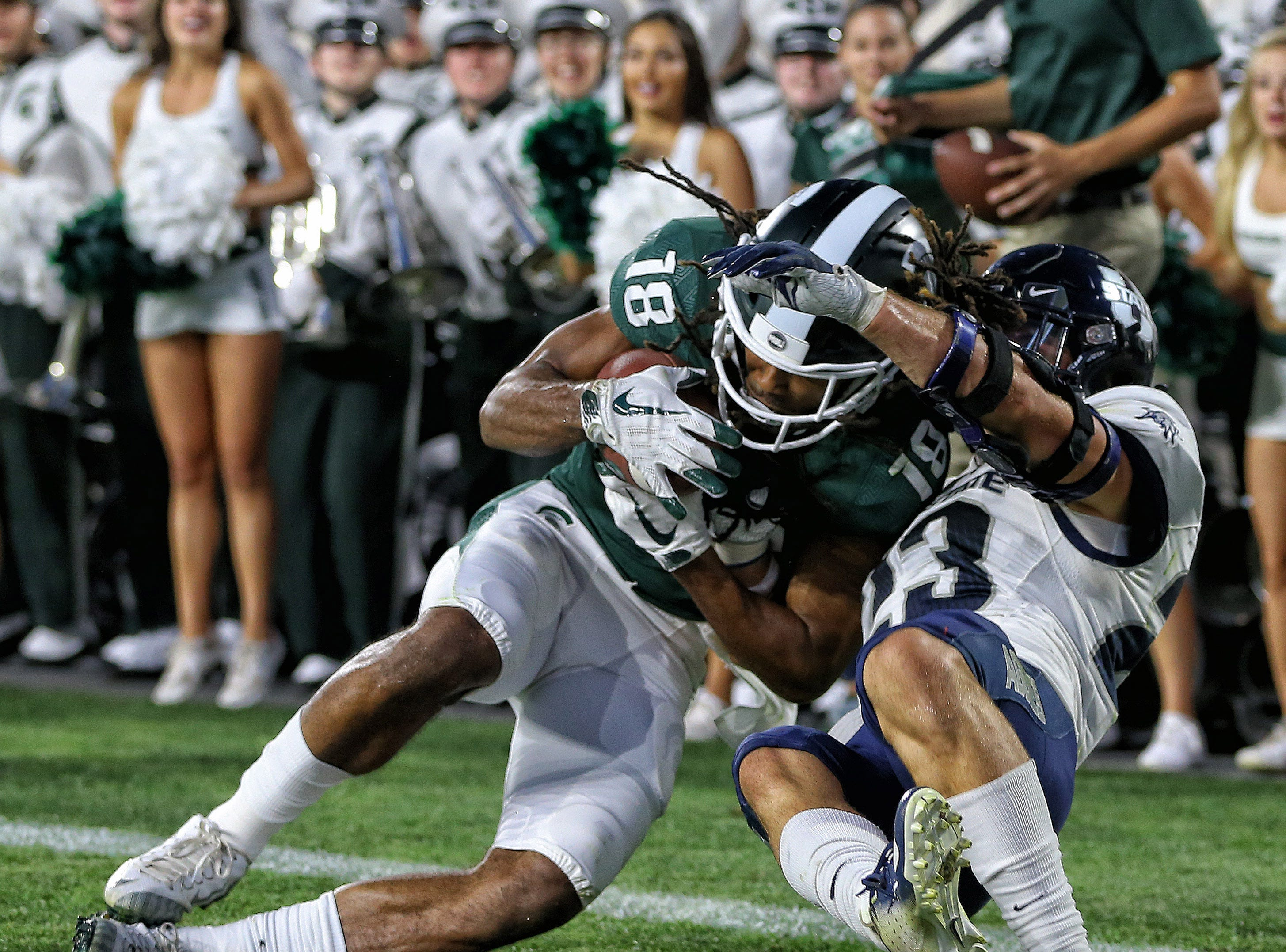 No. 12 Michigan State escapes Utah State's upset bid late