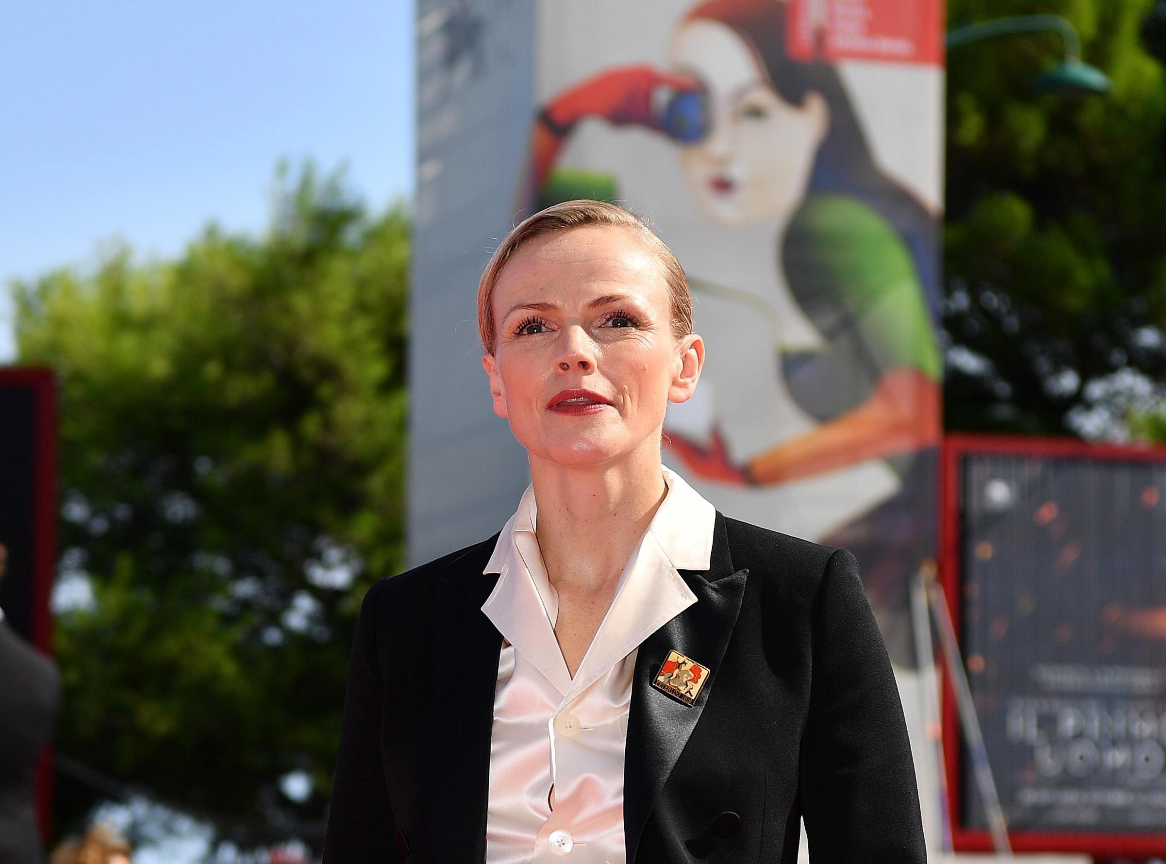 """British actress Maxine Peake arrived for the premiere of  """"Peterloo."""""""