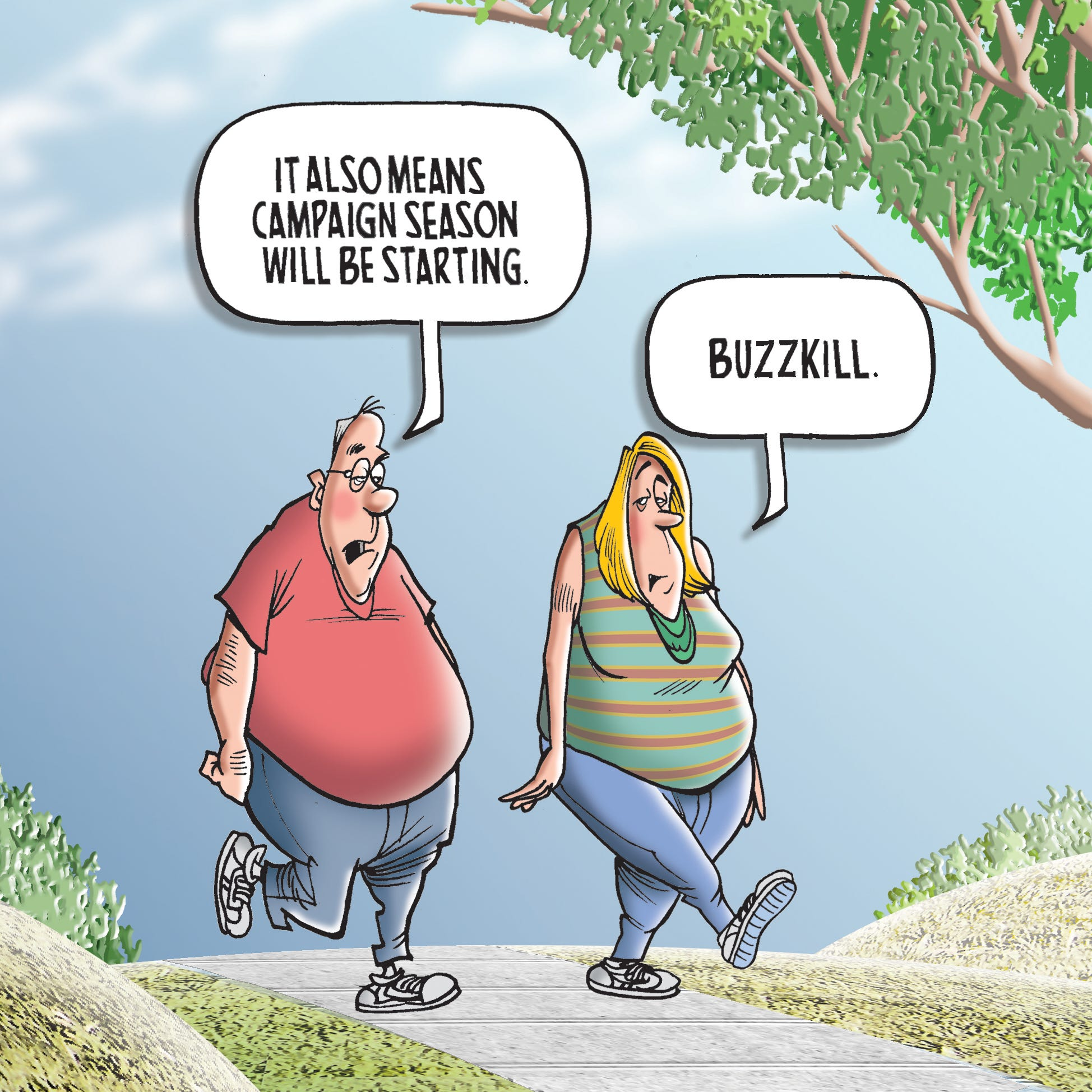 First published for Labor Day 2014. The cartoonist's homepage, freep.com/mikethompson