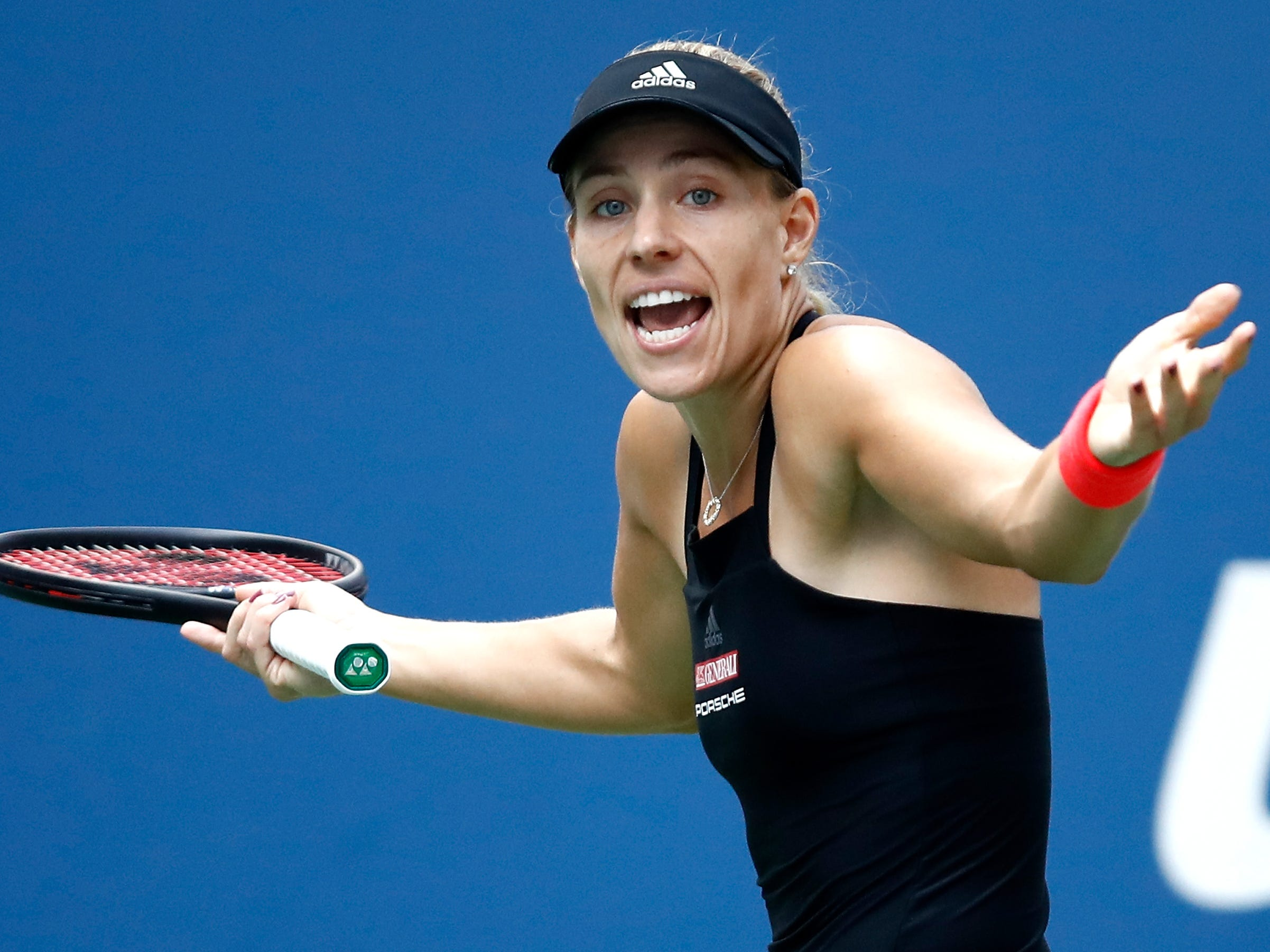 Angelique Kerber was upset by Dominika Cibulkova in the third round.