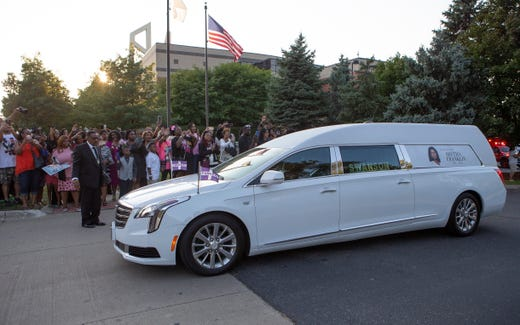 Aretha Franklin's vintage1940 hearse also carried her dad