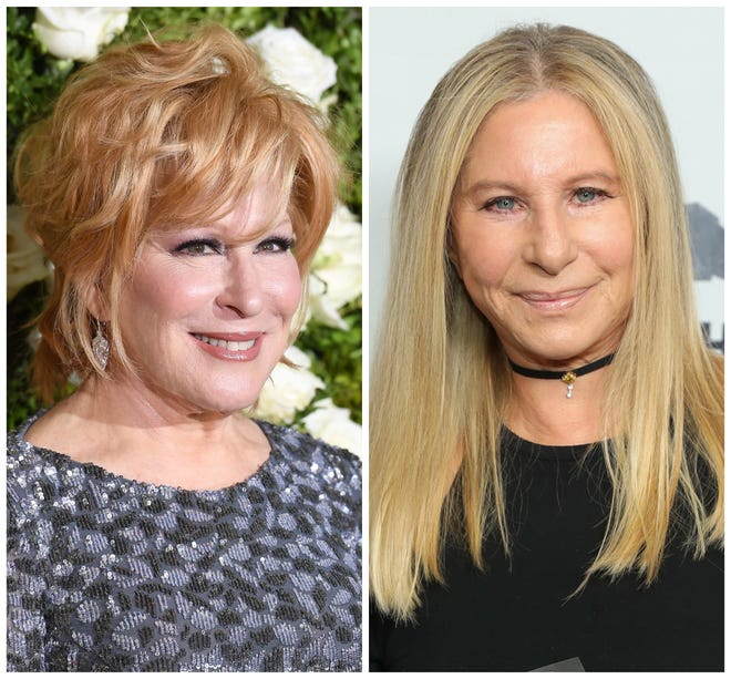 Bette Midler and Barbra Streisand