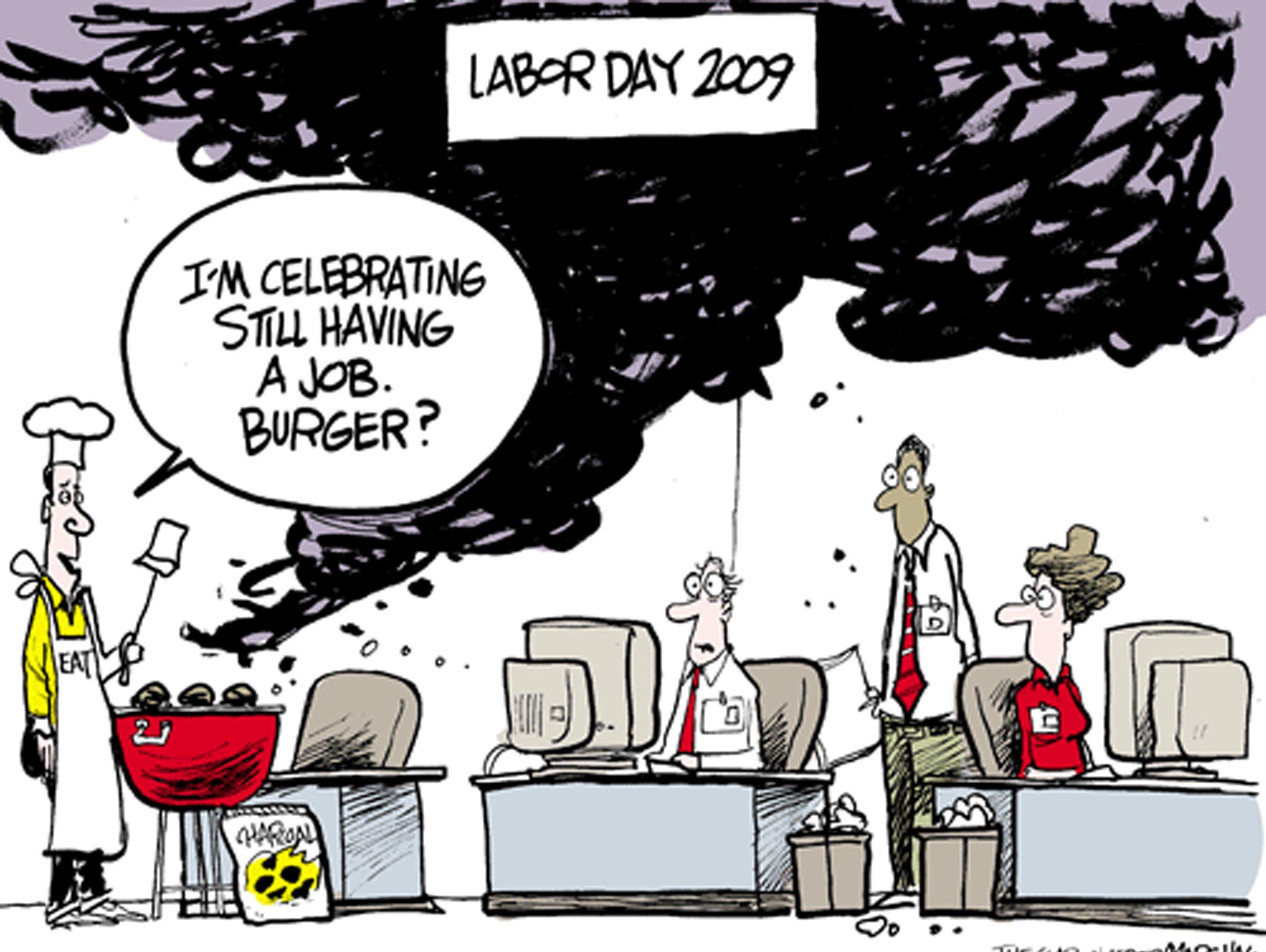 First published for Labor Day 2009. The cartoonist's homepage, clarionledger.com/opinion