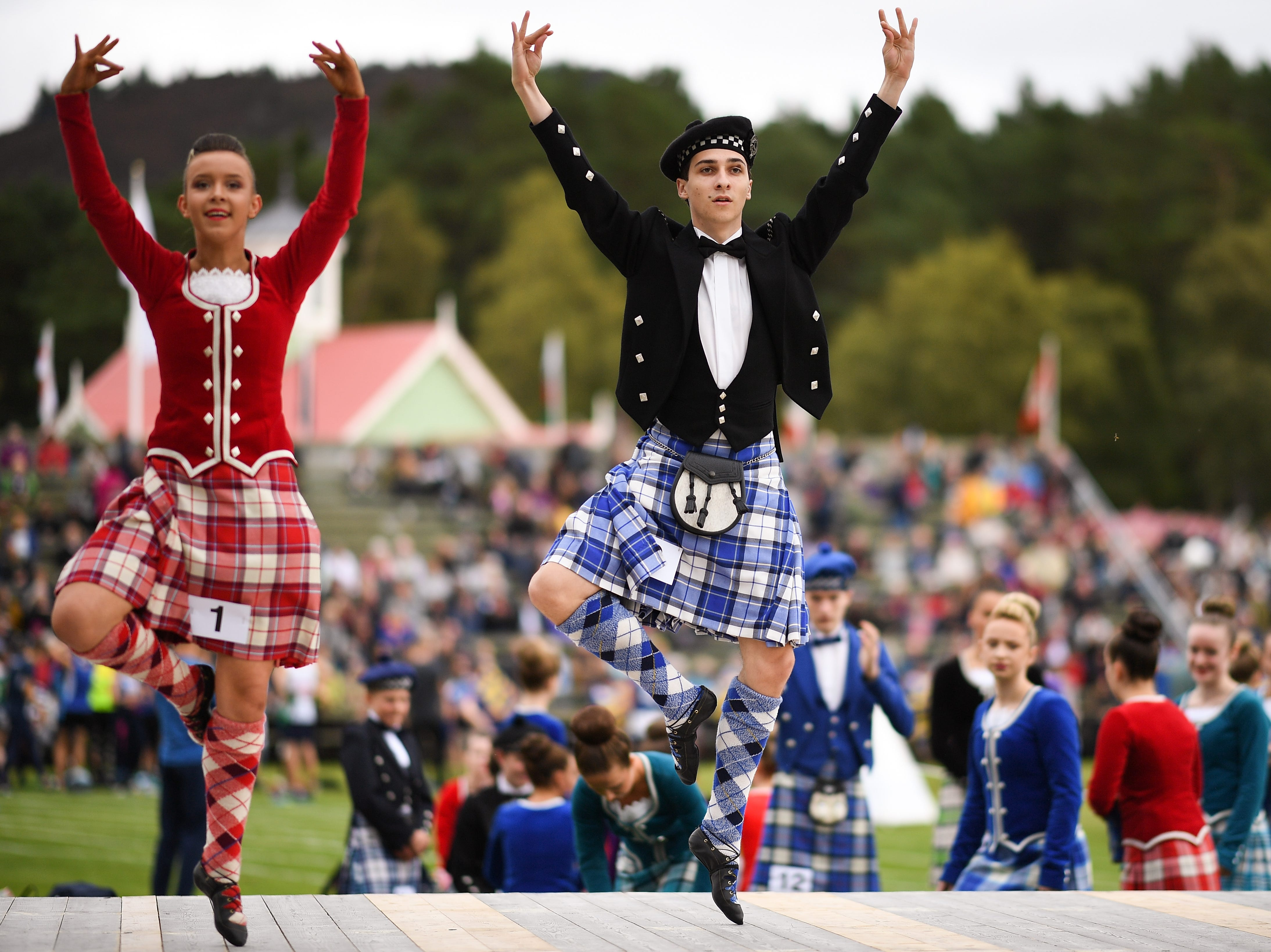 Dancers compete during the Annual Braemar Highland Gathering.