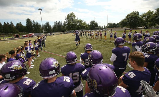 North Kitsap has had the area's most successful football program in recent years, winning 38 games in the past four complete seasons. The Vikings' success has been aided by a handful of transfers who have played key roles on teams that won three straight Olympic League titles and qualified for the quarterfinal round of the state football tournament in 2015 and 2017.