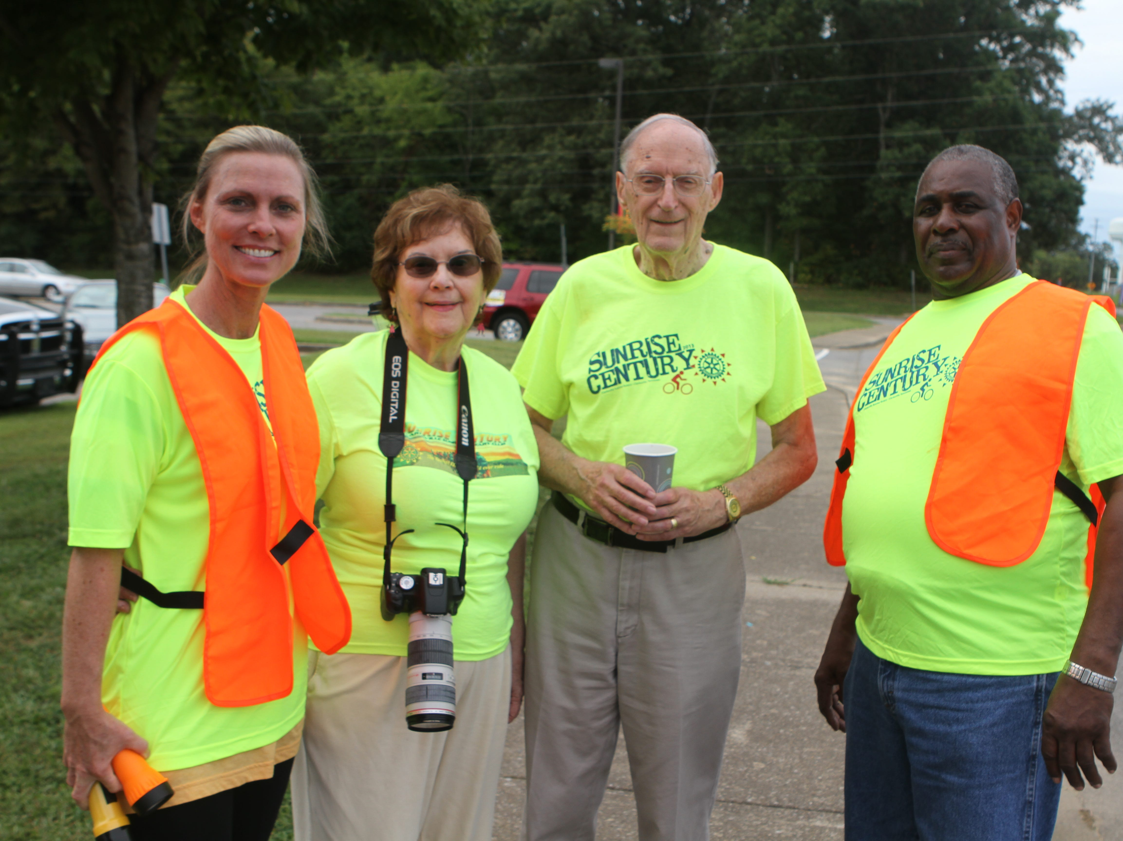 Carrie Daniels, Luannette and John Butler, and John Kendrick at the Sunrise Century Bike Ride Saturday.