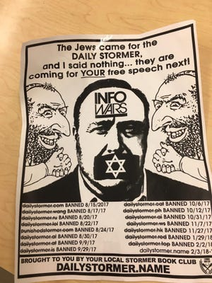 Anti-semitic flyers were found posted outside the First United Methodist Church of Ferndale on Sunday.