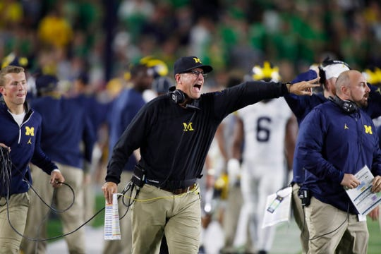 Michigan is 9-9 in the past 18 games under Jim Harbaugh.