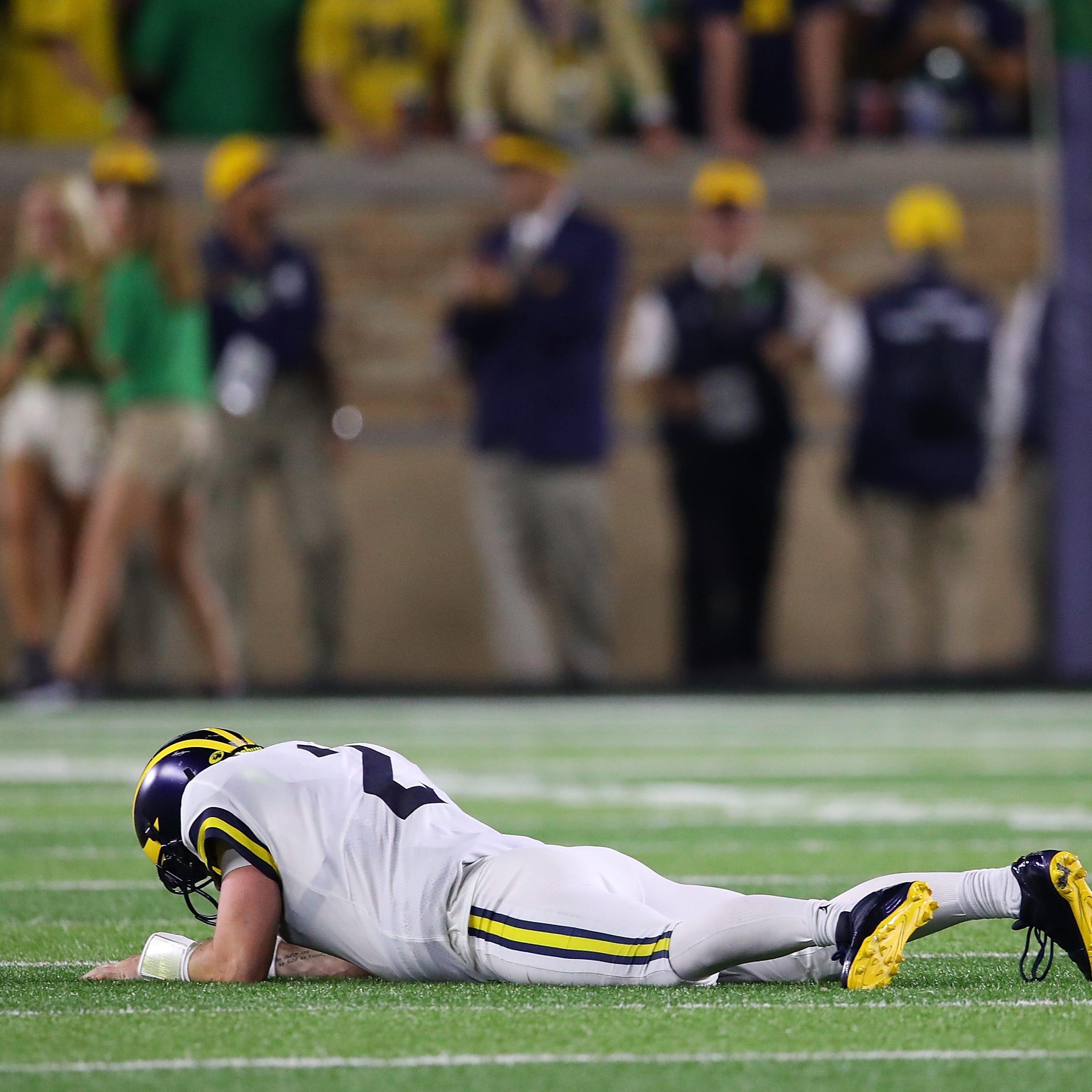 Michigan football's Shea Patterson showed he's human, not the savior