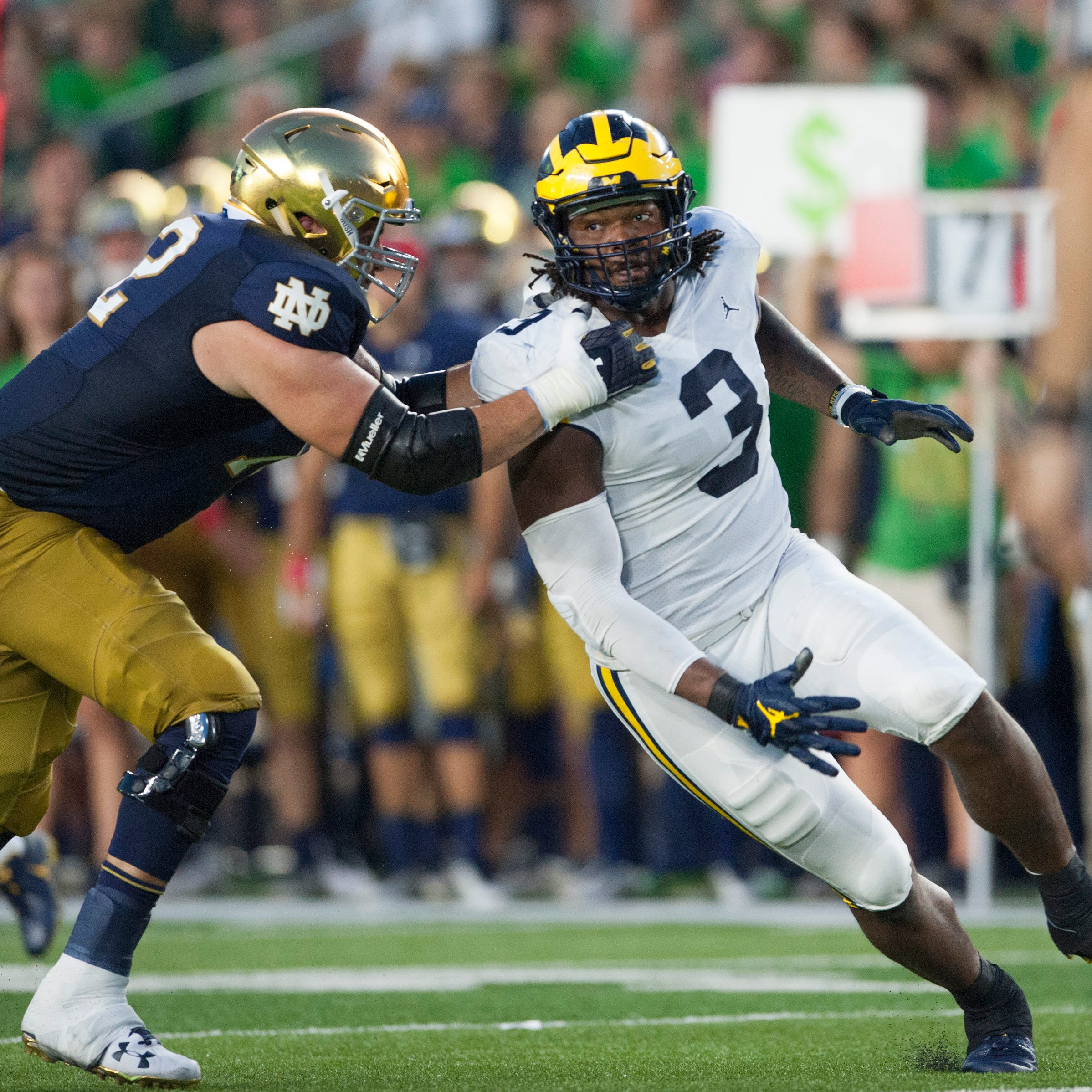 Harbaugh keeps lid on Michigan injury situation, won't say if Rashan Gary will be available