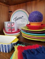 Find a selection of Fiestaware and colorful glazed tabletop pieces at Capers Emporium.