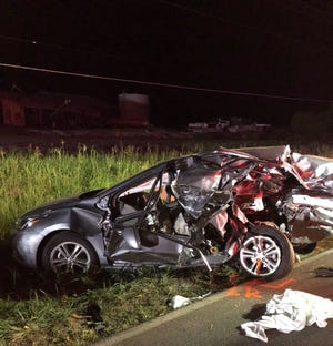 Two people are dead after a fatal crash north of Princeton, Ind., according to Indiana State Police. Sept. 1, 2018.